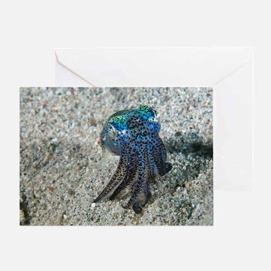 Bobtail squid on the seabed Greeting Card