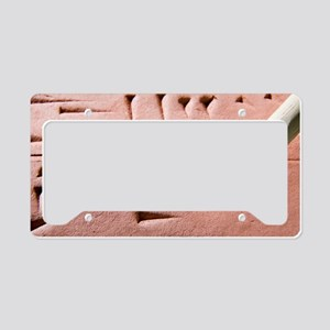 Cuneiform clay tablet and sty License Plate Holder
