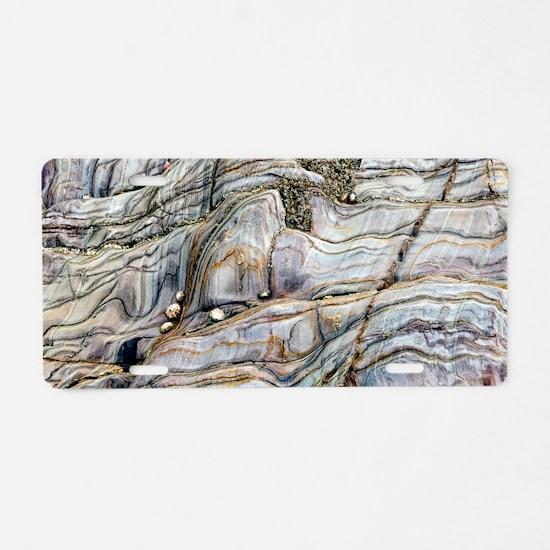 Coloured coastal rock Aluminum License Plate