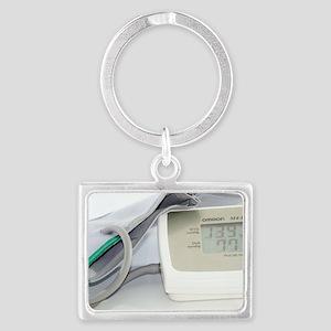 Digital blood pressure monitor Landscape Keychain