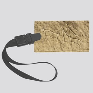 Carved petroglyph, Canada Large Luggage Tag