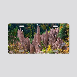 Earth Pyramids, Italy Aluminum License Plate