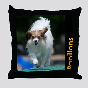 Papillon Agility Calendar Throw Pillow