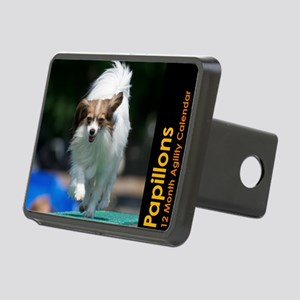 Papillon Agility Calendar Rectangular Hitch Cover