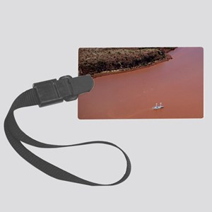 Alcyone Turbosail boat Large Luggage Tag
