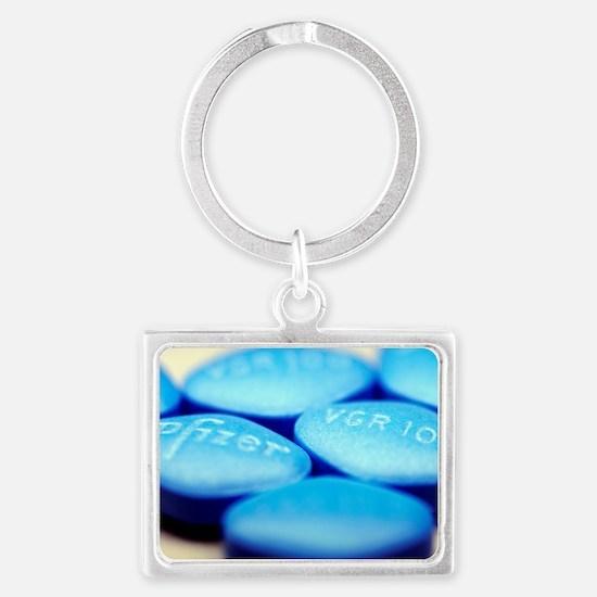 Viagra pills Landscape Keychain