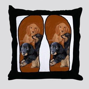 funny dog gifts dachshund Throw Pillow