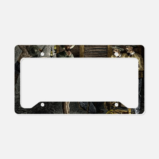 19th-century coal mining License Plate Holder