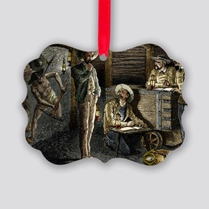 19th-century coal mining Picture Ornament
