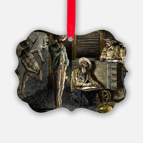 19th-century coal mining Ornament
