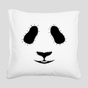 Stitched Panda Face Square Canvas Pillow