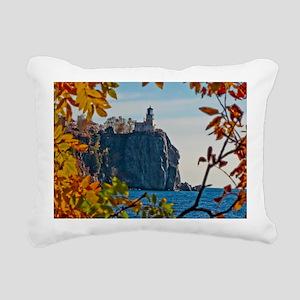 Split Rock Lighthouse in Rectangular Canvas Pillow