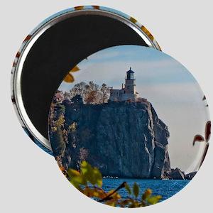 Split Rock Lighthouse in the Fall Magnet