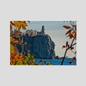 Split Rock Lighthouse in the Fall Rectangle Magnet