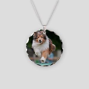 Shetland Sheepdog Agility Ca Necklace Circle Charm
