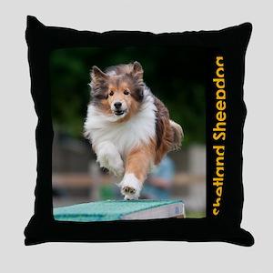 Shetland Sheepdog Agility Calendar Throw Pillow