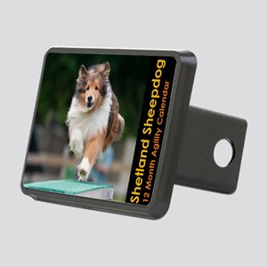 Shetland Sheepdog Agility  Rectangular Hitch Cover