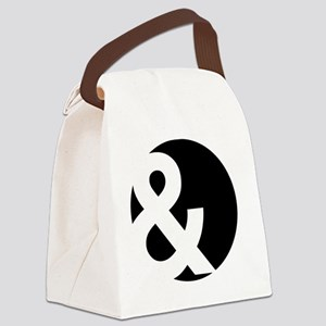 Ampersand Circle Black Canvas Lunch Bag