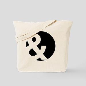 Ampersand Circle Black Tote Bag