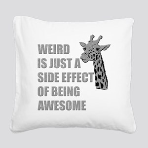 wierd-awesome Square Canvas Pillow