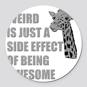 wierd-awesome Round Car Magnet
