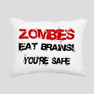 Zombies Eat Brains! Rectangular Canvas Pillow