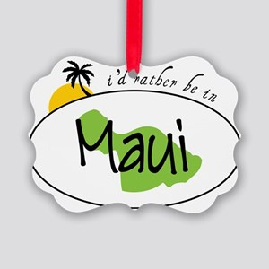 Rather Be In Maui Picture Ornament