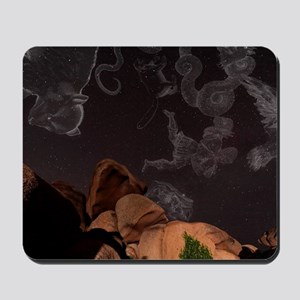 Constellations in a night sky Mousepad