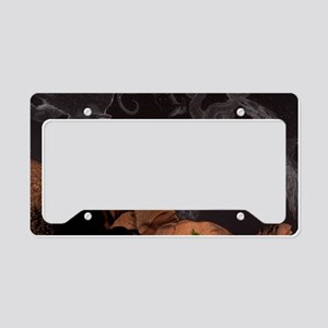 Constellations in a night sky License Plate Holder