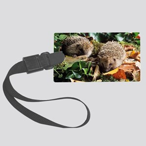 Baby hedgehogs Large Luggage Tag