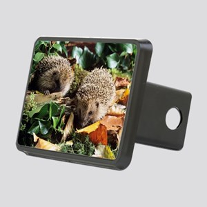 Baby hedgehogs Rectangular Hitch Cover