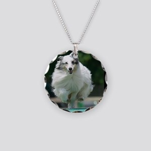 Shetland Sheepdog Agility Ca Necklace Circle Charm