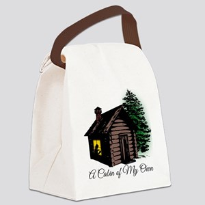 A Cabin of My Own Canvas Lunch Bag