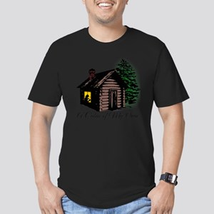 A Cabin of My Own Men's Fitted T-Shirt (dark)