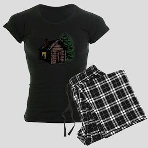 A Cabin of My Own Women's Dark Pajamas