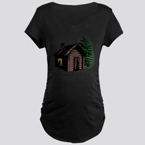 A Cabin of My Own Maternity Dark T-Shirt