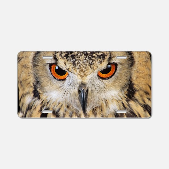 Bengalese eagle owl Aluminum License Plate