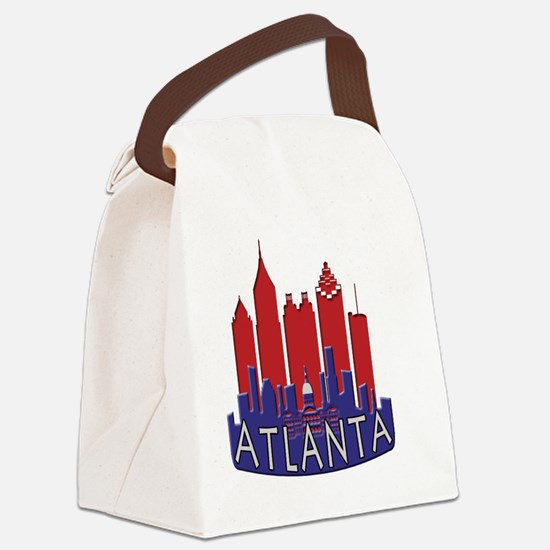 Atlanta Skyline Newwave Patriot Canvas Lunch Bag