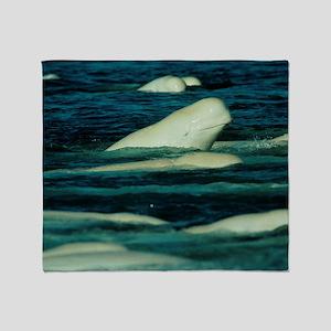 Beluga whales Throw Blanket