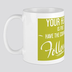 small framed print Your heart is free h Mug