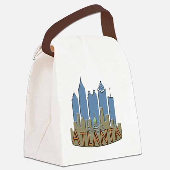 Atlanta Skyline Newwave Beachy Canvas Lunch Bag