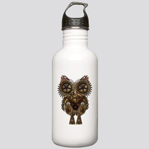 Large Steampunk Owl Stainless Water Bottle 1.0L