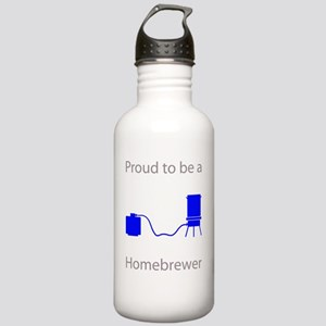 Homebrewer Blue Stainless Water Bottle 1.0L
