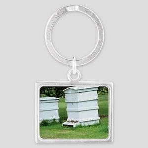 Beehive Landscape Keychain