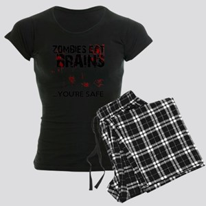 zombies eat brains youre saf Women's Dark Pajamas