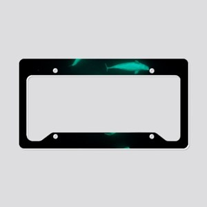 Beluga whales License Plate Holder