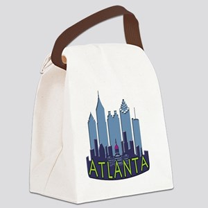 Atlanta Skyline Newwave Cool Canvas Lunch Bag