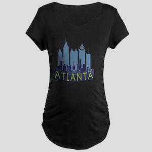Atlanta Skyline Newwave Coo Maternity Dark T-Shirt