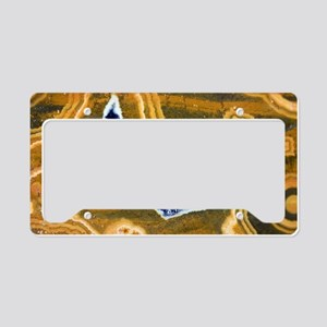 Cut and polished jasper License Plate Holder