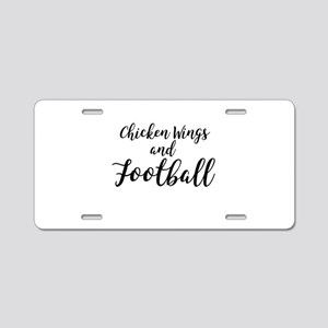 Chicken Wings & Football Aluminum License Plate